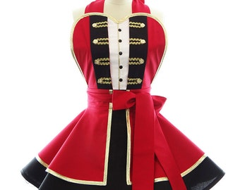 Birthday Costume Apron - The Greatest Show Ringmaster Tuxedo Womens Costume Apron - Hostess, & Cosplay Aprons for Women by BambinoAmore