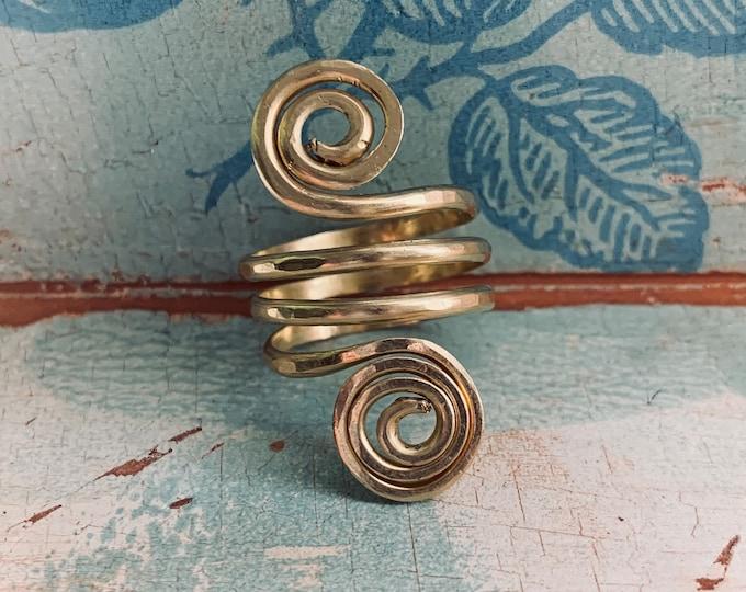 AWAKEN brass spiral ring