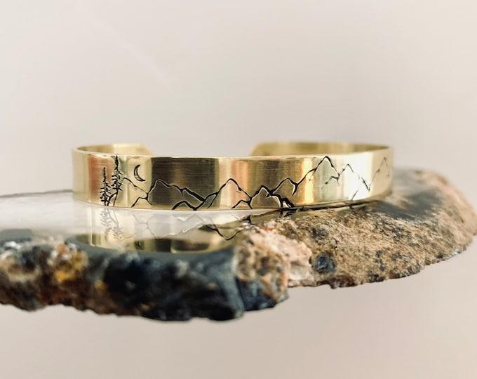 MTN BANGLE brass handforged bracelets