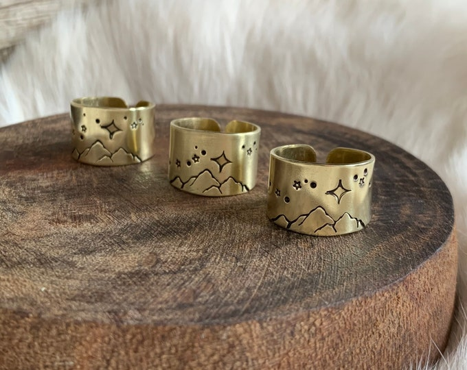 SEND IT Mountain Stardust ring band