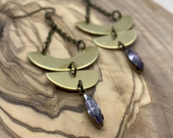 GLORIA chain dangle earrings