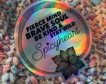 SPICYHEART quote sticker