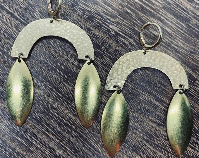 ROBERTA metal fringe earrings
