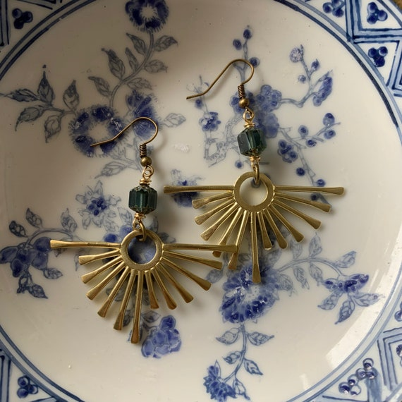 MONSERRAT sunshine brass dangle