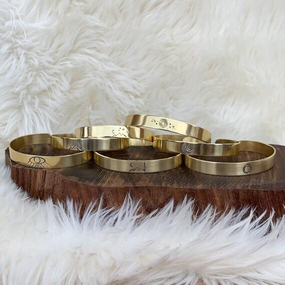 BOHO BANGLES brass handforged bracelets