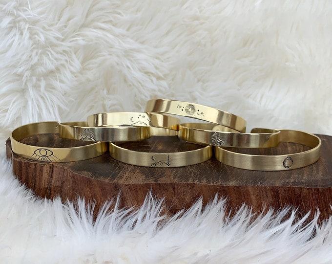 BANGLES brass handforged bracelets