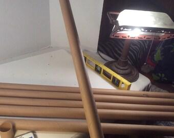 3x3x48 White Box Corrugated Square Mailing Tube Shipping Storage 50 Tubes