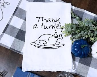 Turkey Day Thanksgiving Tea Towel