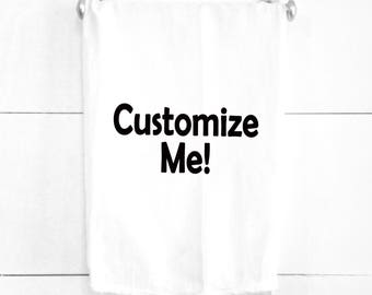 Custom Tea Towel Personalize With Your Design