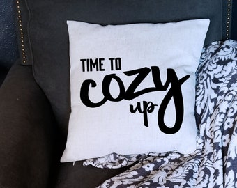Time to Cozy Up Cover 18 X 18