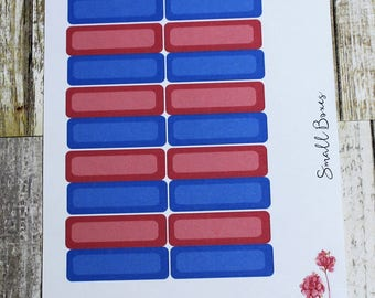 Functional Stickers--Blue and Red small boxes