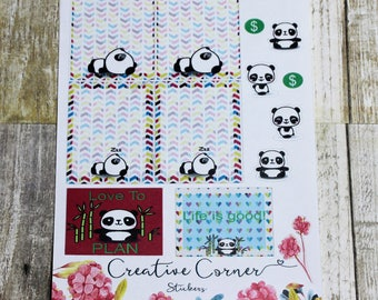 Functional Stickers--Panda Boxes