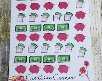 Functional Sticker icons--Money Money Money