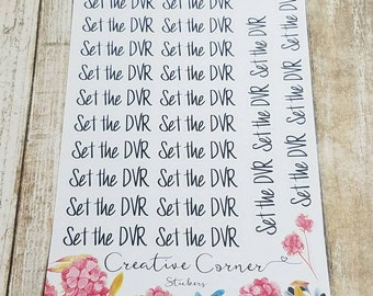 Set the DVR functional stickers