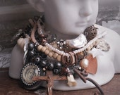 One is the Loneliest Number Heavy metal Vintage Religious Bone Charm Bracelet