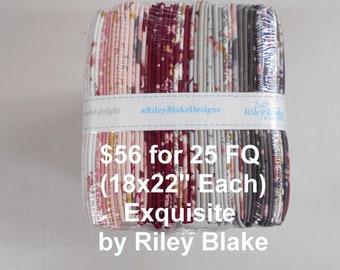 Exquisite Floral 25 FQ Bundle Fat quarters (each 18x22) by Riley Blake 100% Cotton NEW Fabric Garden Flowers