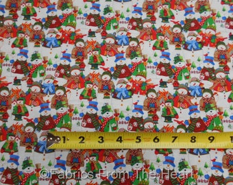 Winter Wishes Snowman Family Snow Wonderland  BY YARDS, 1/2 YD, Fat Quarter  Windham 100% Cotton Fabric
