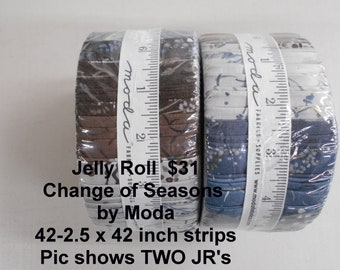 """Change of Seasons Strips Jelly Roll  2.5"""" x 42""""- 40 strips 100% Cotton NEW MODA Fabric by Holly Taylor"""