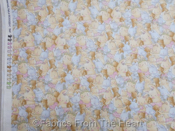 Bunnies /& Bears Teddy Bunny Pastel Packed BY YARDS Timeless Treasure Fabric