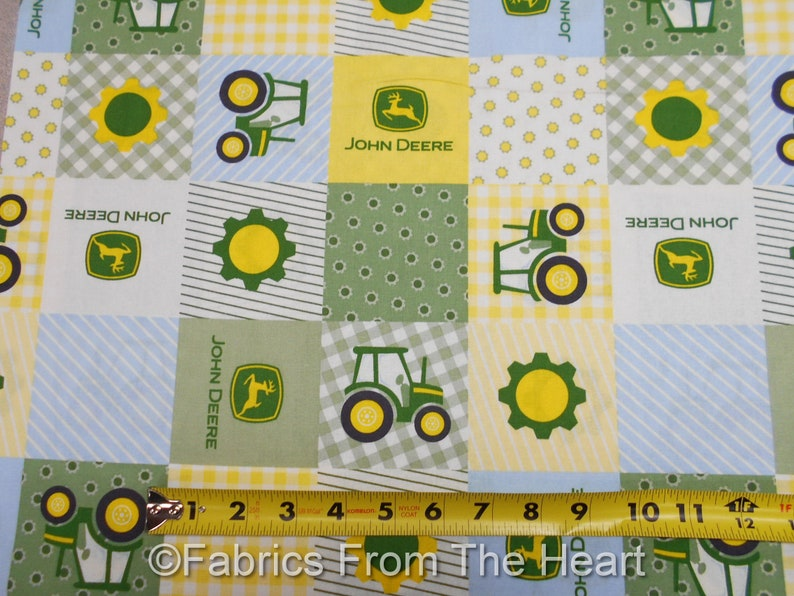 John Deere Children's Born to Farm Tractors Patch BY YARDS image 0