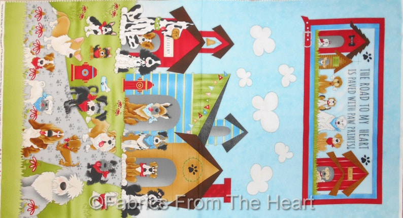Home is where the Dog IS Puppy Breeds  23x44 Panel image 0