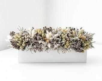 neutral grains- dried flower everlasting centerpiece