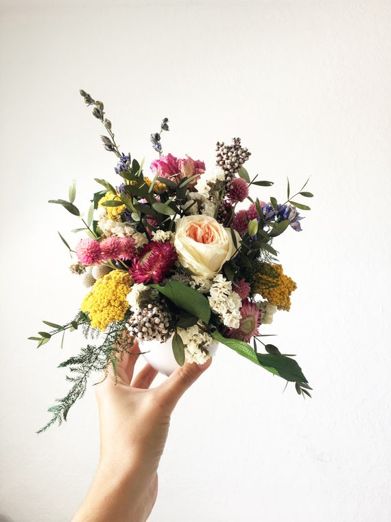 New Designers Choice Modern Dried Flower Arrangement Etsy