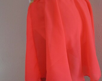 ead7da265df Size 18 Month Dance Skirt- Neon Orange Sheer Crepe- Full Circle