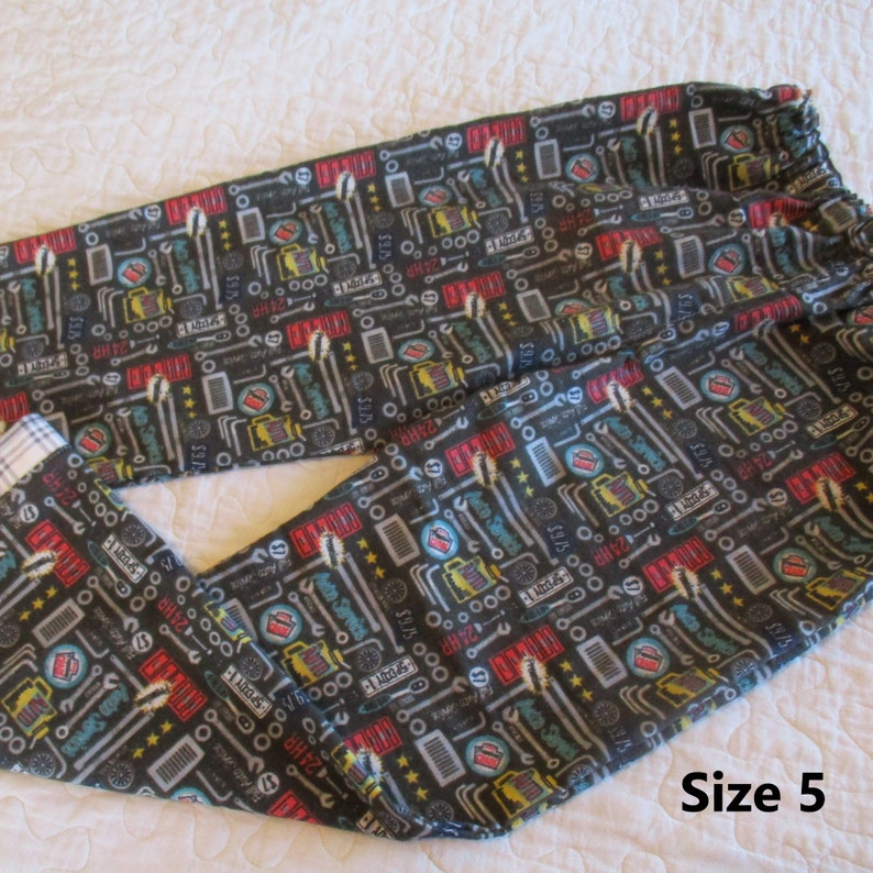 Cars Flamingo Star Hedgehog Size 5 Assorted PJ Flannel Lounge Pant--Multiple Fabric--Medallion -- Elastic Waist and Coordinating Cuff