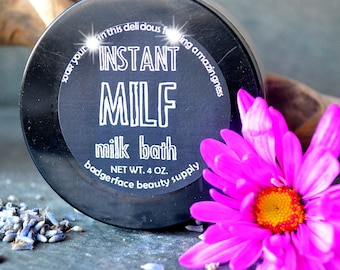 Pregnancy Gift Instant MILF Milk Bath Soak 4 Oz 113 G Mothers Day New Mom Expecting For