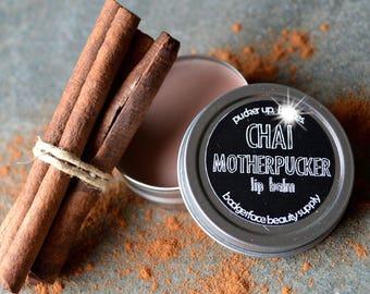 Chai Lip Balm. Chai Tea. Motherf*cker. Funny Lip Balm. Chai Tea Lip Balm. Lip Balm. Herbal Lip Balm. Beeswax Lip Balm. Swear Words.