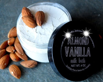BRIDESMAID Gift. Almond Vanilla Milk Bath Soak. Gift for New Mom. Skin Care. Bath Milk. Natural Bath Product. Bath and Body. Gift for Her.