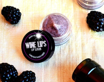 Wine Gifts for Her. Wine Lip Scrub. Wine Lover Gift. Gifts for Women.