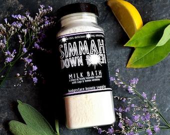 Lavender Milk Bath Soak. Relaxing Natural Bath Product with Oatmeal. 8 oz / .24 L.