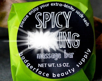 Warming Massage Bar. Spicy F*cking Massage Bar. Funny Gift. Massage Therapy. Natural Skin Products. Profanity. Muscle Rub. Funny Couples.