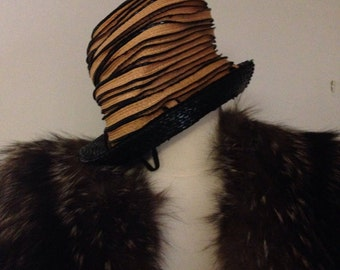 d097307f327 Authentic Elegant Vintage Christian Dior Summer Hat