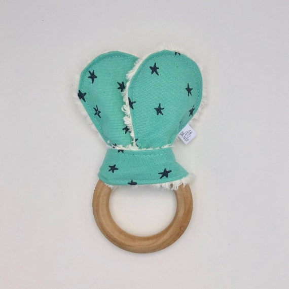 Starry Seaglass Crinkle Bunny Ears Teether