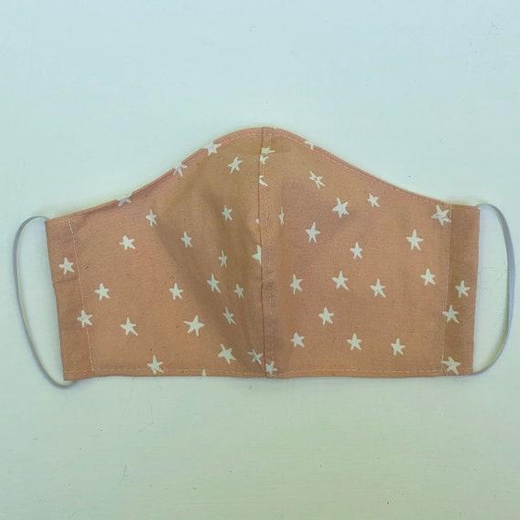 Peach Stars Face Mask