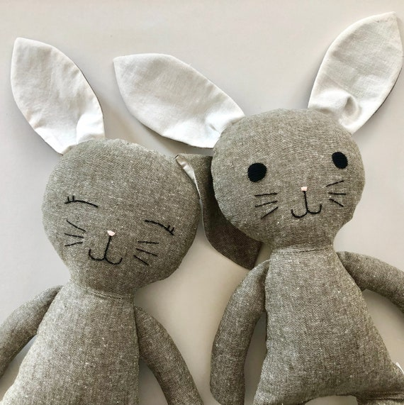 Olive Linen Bunny