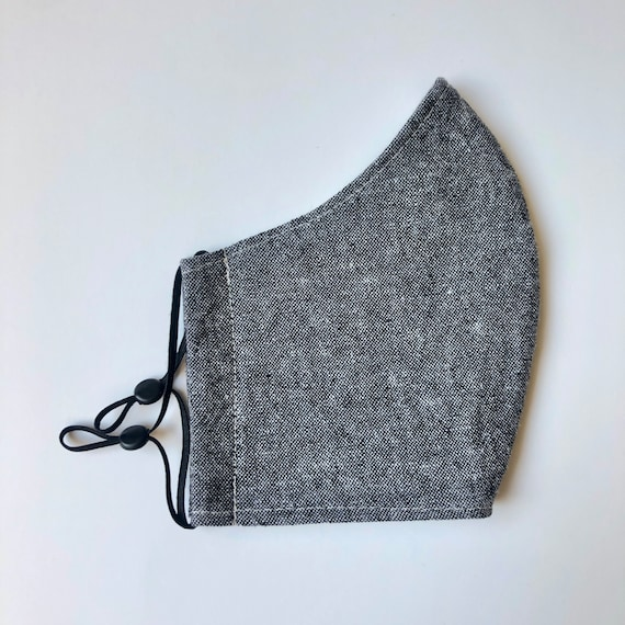 Charcoal Linen Face Mask