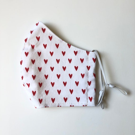 Red Hearts Face Mask