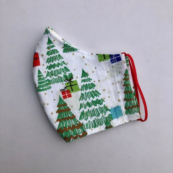 Green Christmas Trees Face Mask