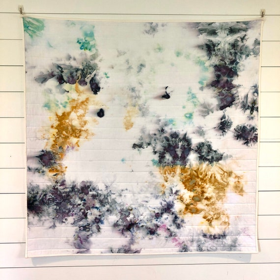 Beauty in chaos quilted wall hanging