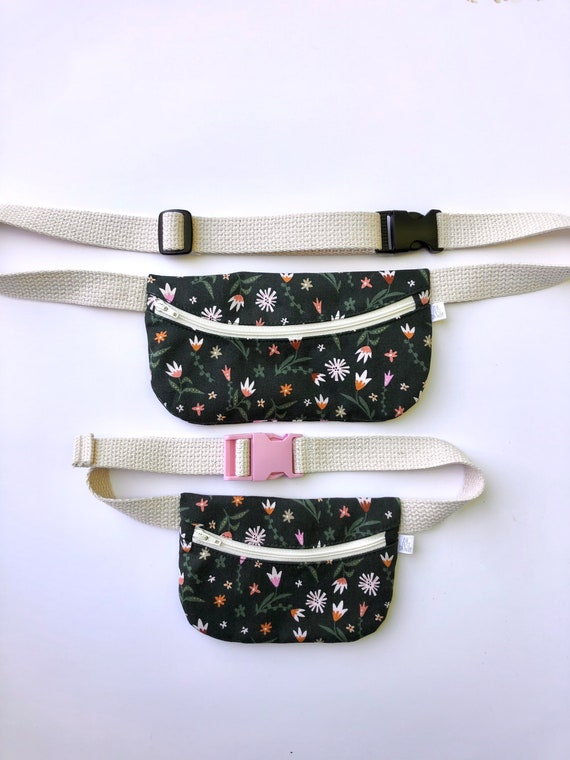 Mommy n Me Treasure Pouch in Green Floral