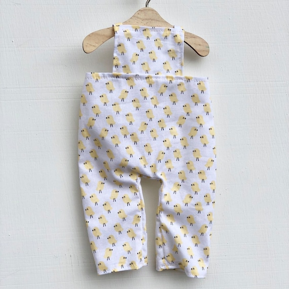 Yellow Chicks Doll Overalls