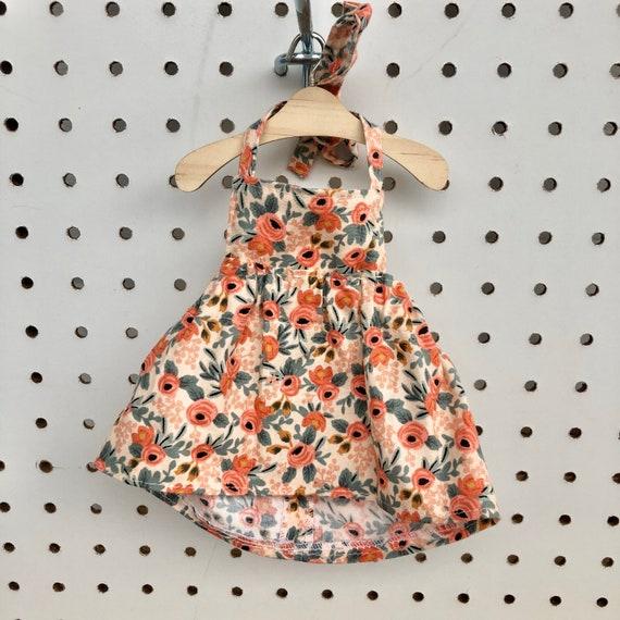 Rosa Flora Peach Dress