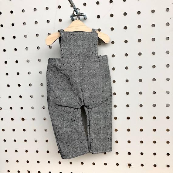 Black Linen Overalls