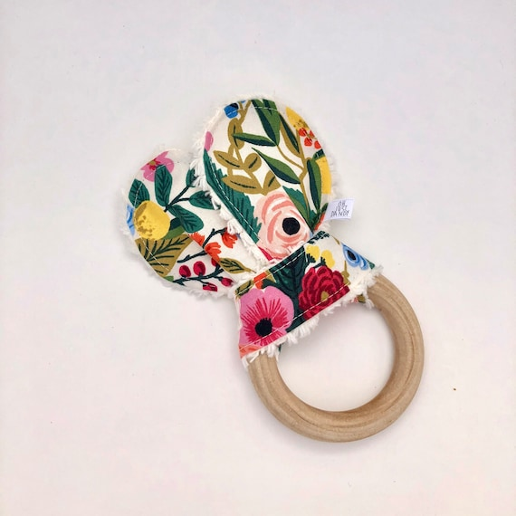 Garden Party Crinkle Bunny Ears Teether