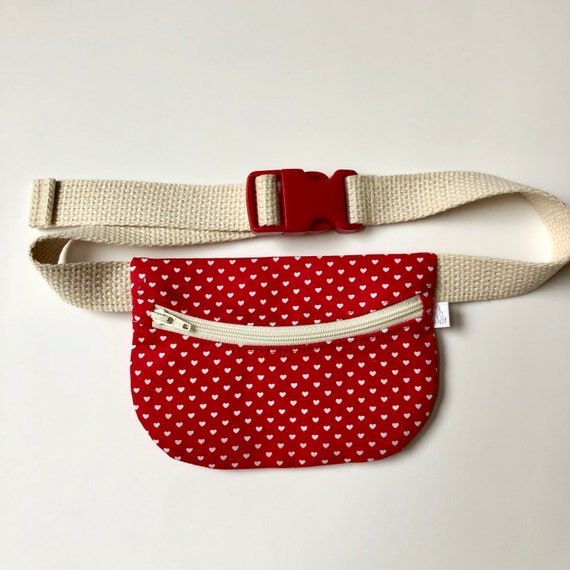 Treasure Pouch in Red Hearts