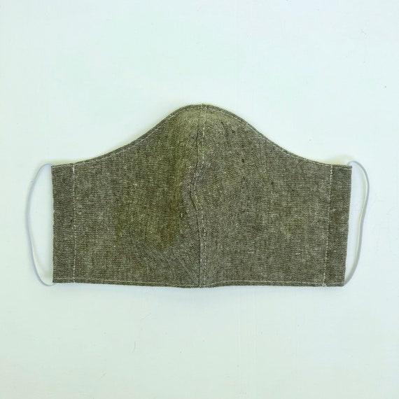 Olive Linen Face Mask